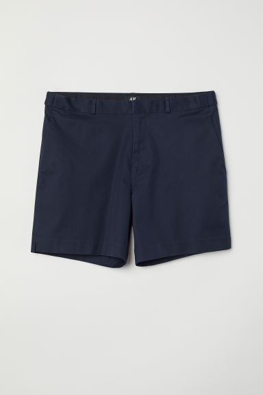 City shorts Slim fit - Dark blue - Men | H&M
