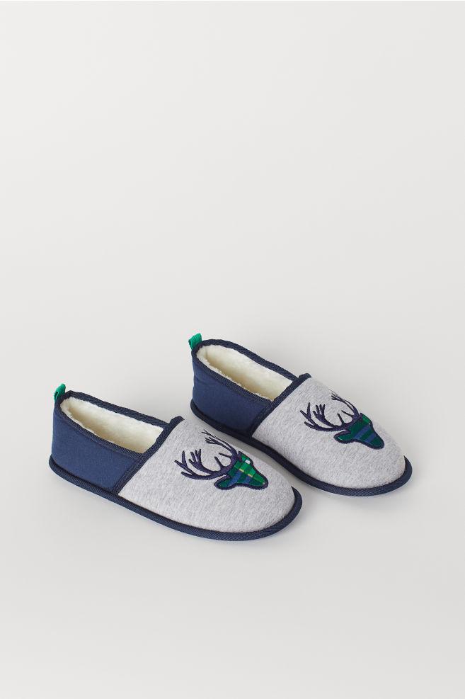 79c1e5ed9611 Soft Slippers - Gray reindeer - Kids
