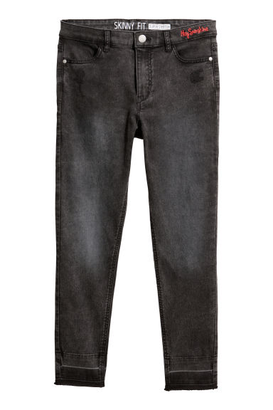 Generous Fit Twill Trousers - Black washed out - Kids | H&M