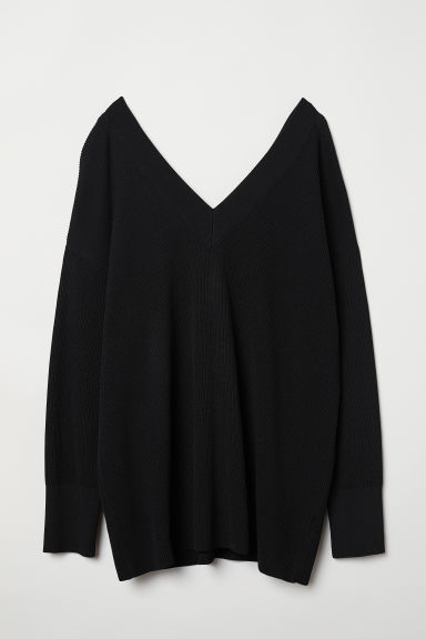 V-neck jumper - Black - Ladies | H&M