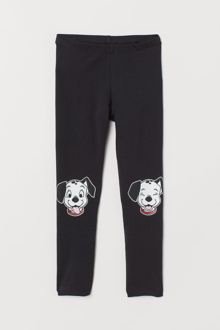 Printed leggings - Black/101 Dalmatians - Kids | H&M CN