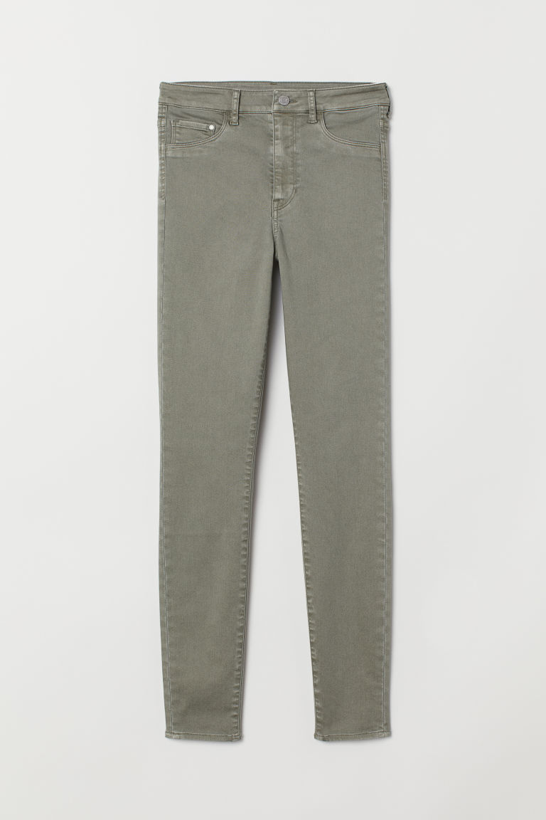 Super Skinny High Jeggings - 卡其绿 -  | H&M CN