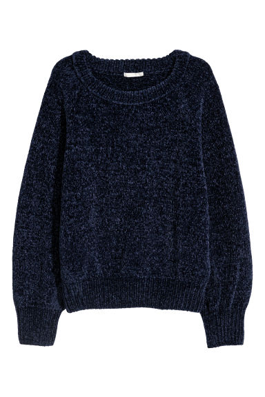 Knitted jumper - Dark blue - Ladies | H&M CN
