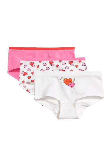 3-pack hipster briefs - Natural white/Hearts -  | H&M