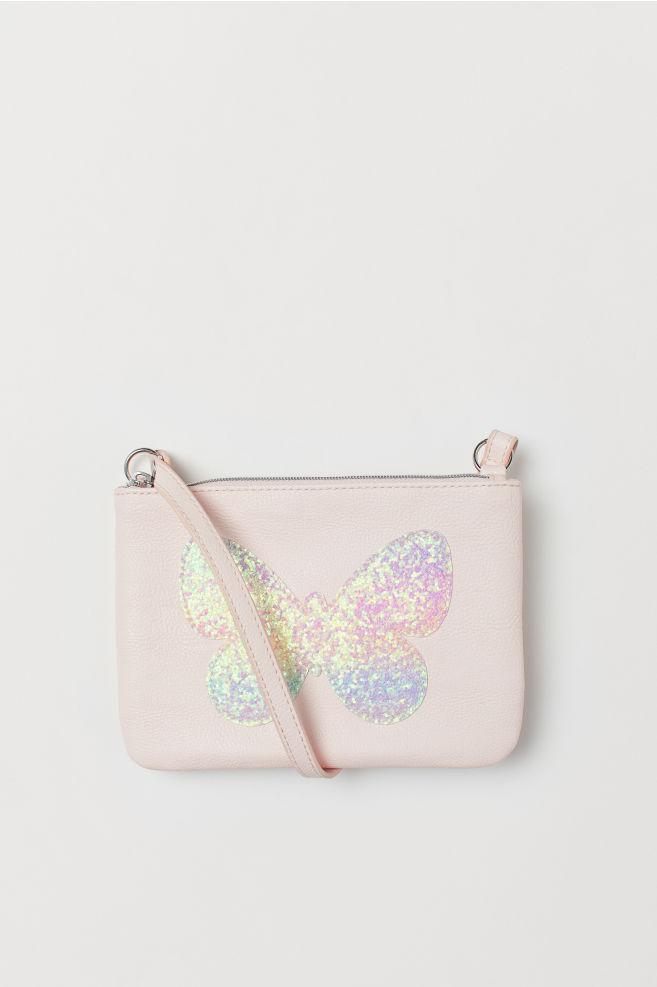 1b1aa54a1d Piccola borsa a tracolla - Rosa chiaro/farfalla - BAMBINO | H&M ...