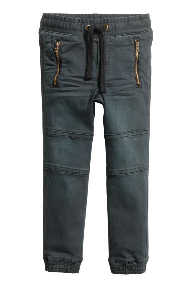 Twill joggers - Black - Kids | H&M CN