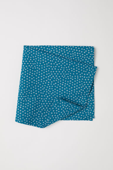 Cotton napkin - Dark turquoise/Spotted - Home All | H&M CN
