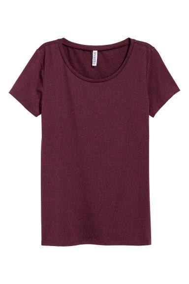 T-shirt in jersey - Prugna -  | H&M IT