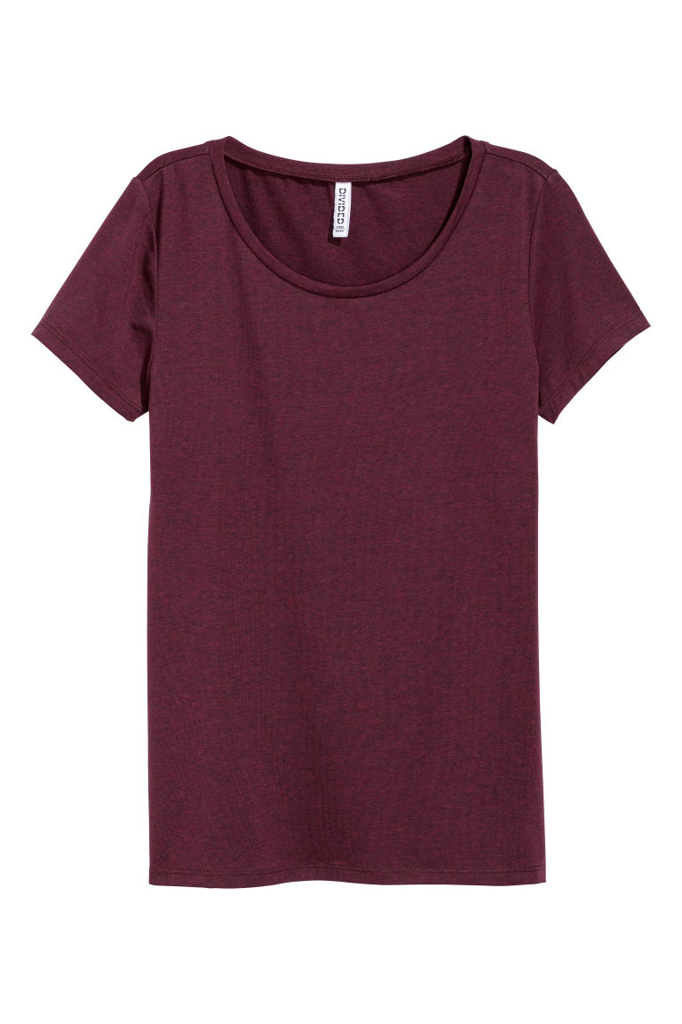 Jersey top - Plum - Ladies | H&M GB