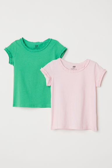 2-pack jersey tops - Green - Kids | H&M