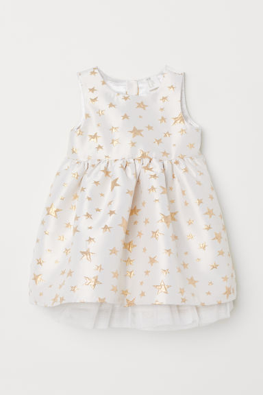 Tulle dress - White/Stars - Kids | H&M