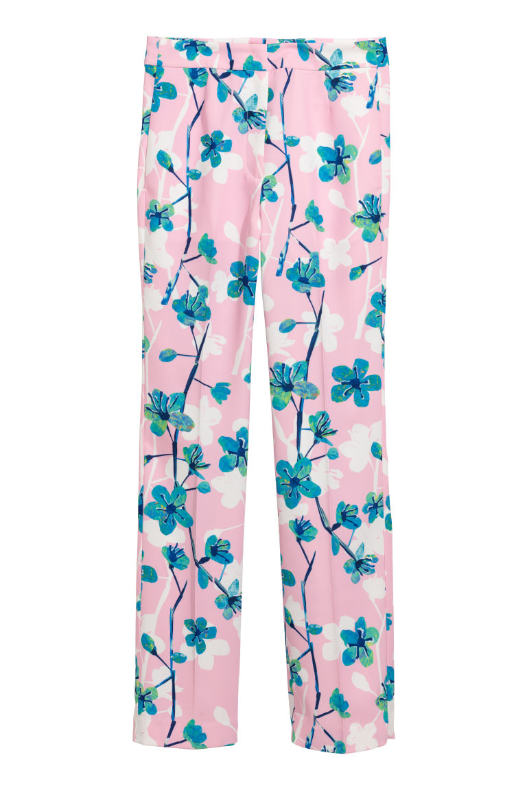 Wide trousers - Light pink - Ladies | H&M CN
