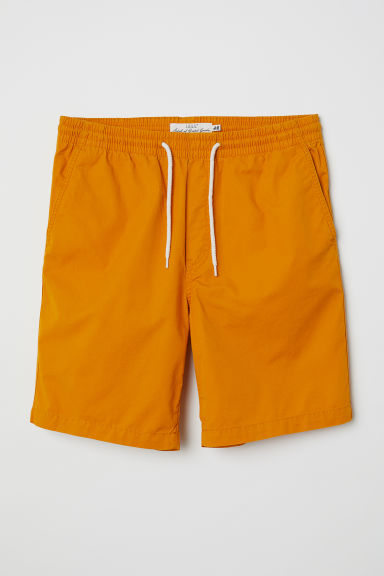 Elasticated cotton shorts - Yellow - Men | H&M IE