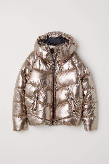 Padded jacket - Copper-coloured/Metallic - Kids | H&M CN