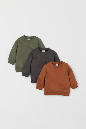 3-pack cotton sweatshirts