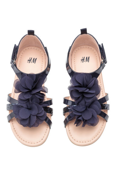 Sandals with Appliqué - Dark blue - Kids | H&M CA
