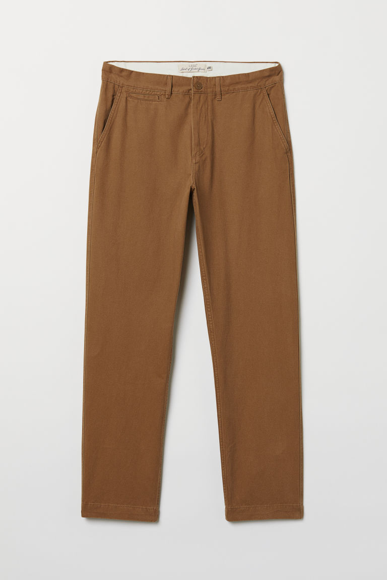 Regular Fit Cotton Chinos - Light brown - Men | H&M CA