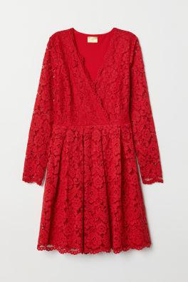 Krajkové šaty s výstřihem do V a225be9b15