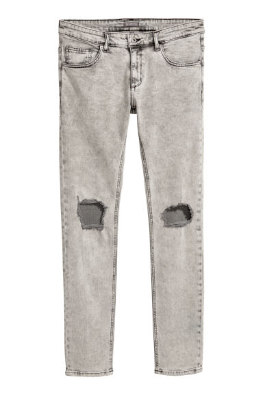 Super Skinny Trashed Jeans - Light grey/Washed - Men | H&M CN