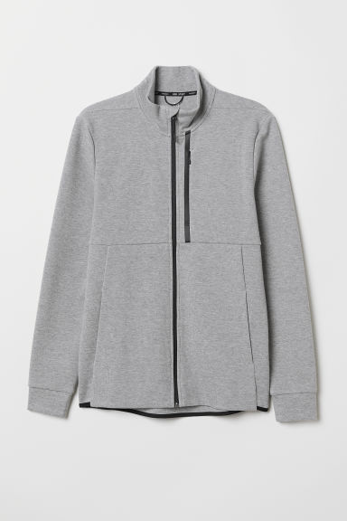 Sports jacket with a collar - Light grey marl - Men | H&M CN