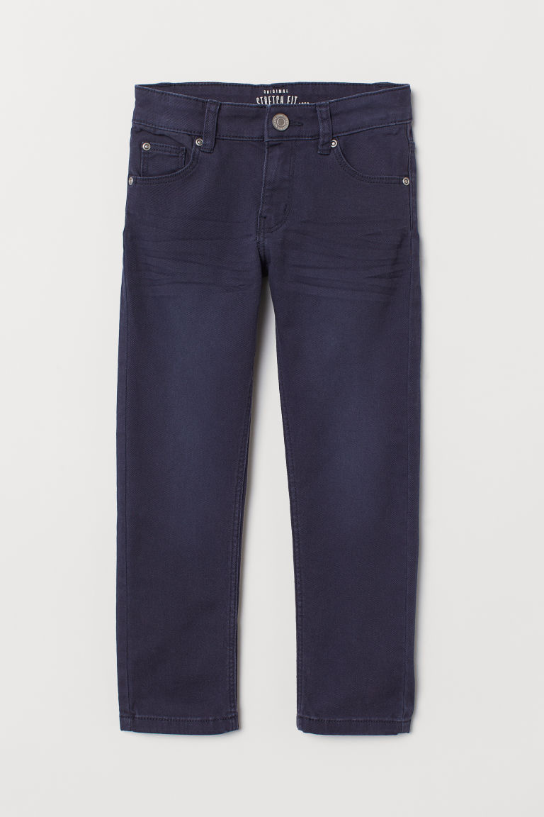 Slim-fit Twill Pants - Dark blue - Kids | H&M US
