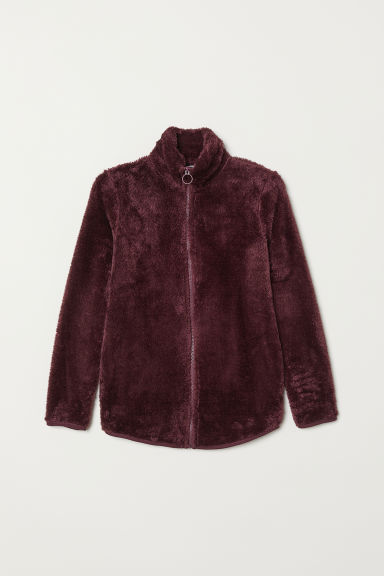 Top with a zip - Plum purple - Ladies | H&M