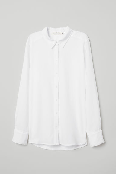 Cotton shirt - White - Ladies | H&M CN
