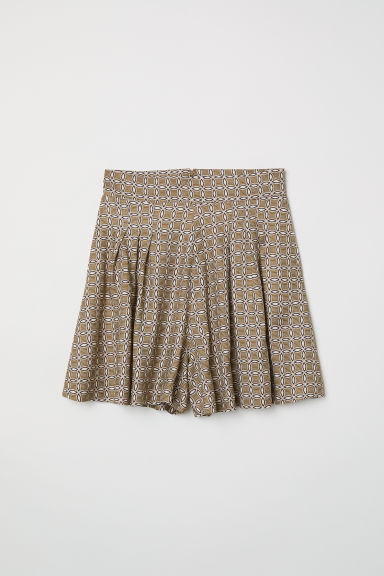 Patterned shorts - Khaki green/Patterned - Ladies | H&M