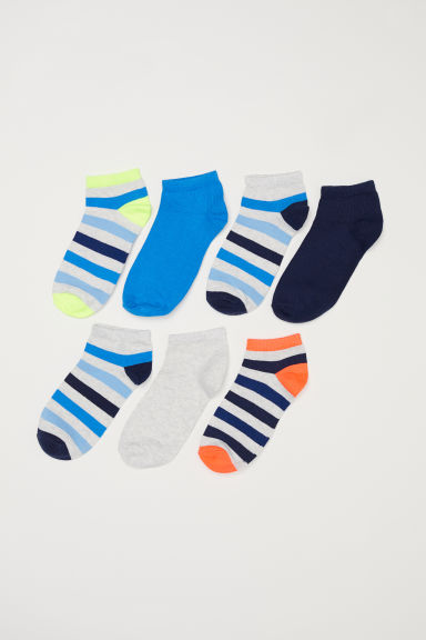 7-pack trainer socks - Grey/Striped -  | H&M