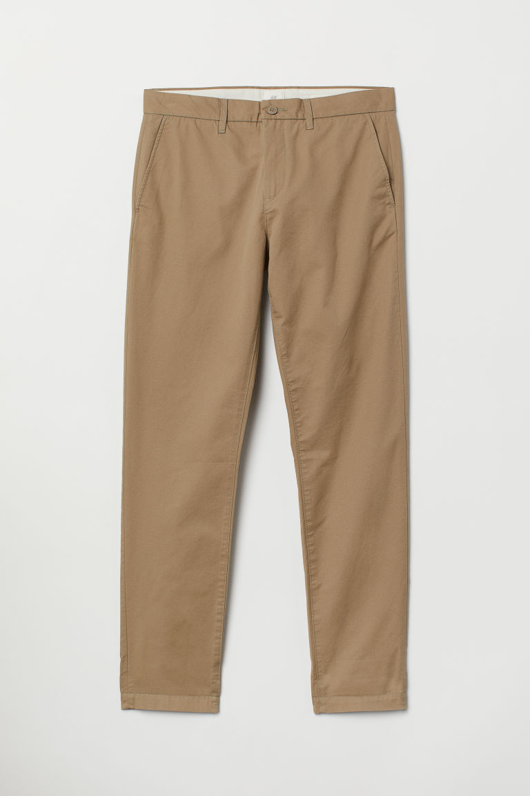 Cotton chinos Slim Fit - Beige - Men | H&M
