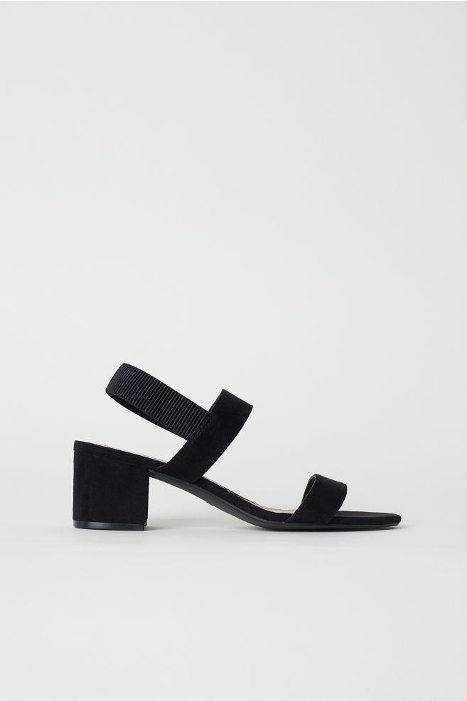 b0c140f17dfe Sandaler med hæl - Sort - DAME