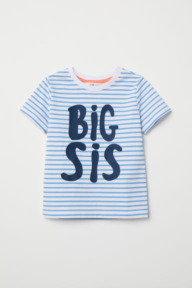 T-shirt fratelli e sorelle - Bianco/Big Sis - BAMBINO | H&M IT