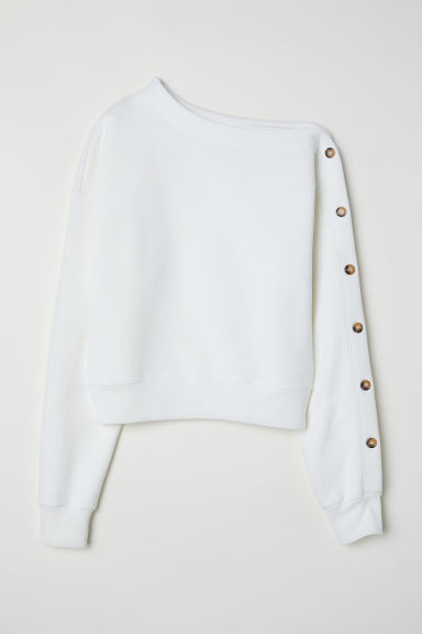 One-shouldersweater - Wit - DAMES | H&M NL