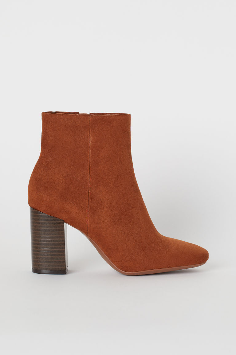 Block-heeled Ankle Boots - Camel - Ladies | H&M US