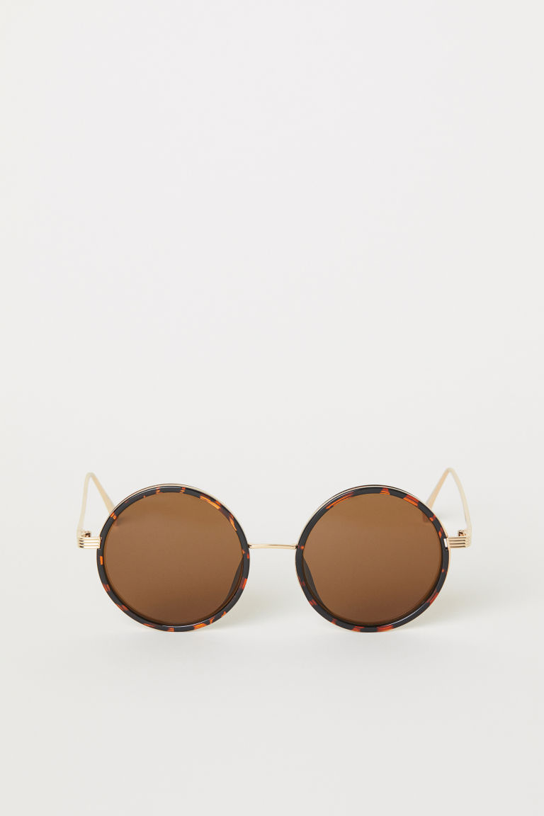 Round Sunglasses - Brown/gold-colored -  | H&M US
