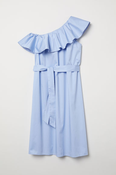 One-shoulder dress - Light blue - Ladies | H&M