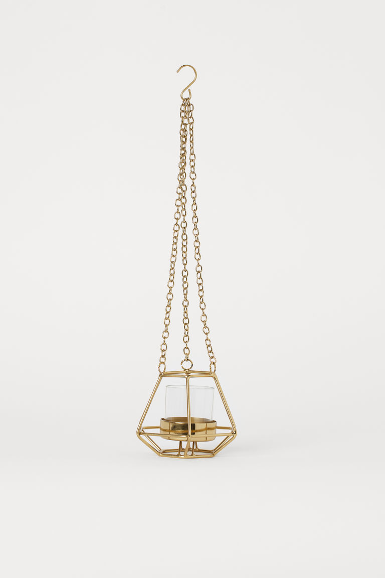 Metal hanging tealight holder - Gold-coloured - Home All | H&M CN