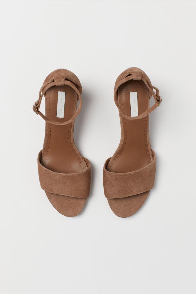 1a1456197242 Suede Sandals - Dark beige - Ladies