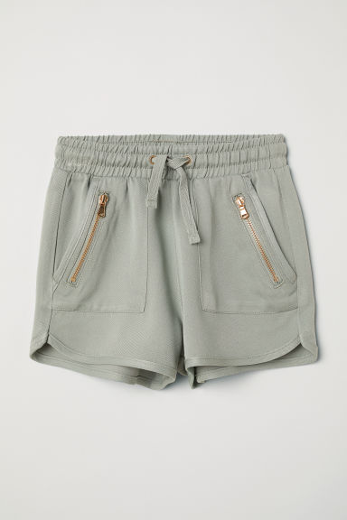 Viscose shorts - Light khaki green -  | H&M CN