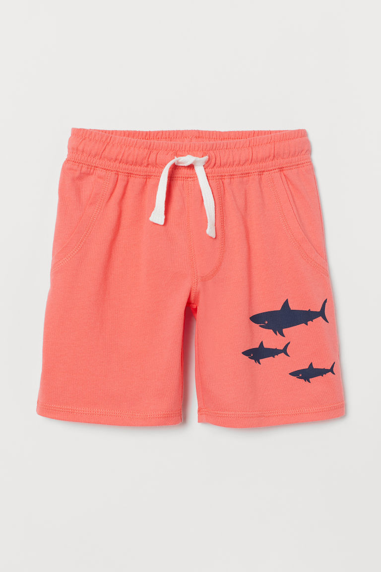 Jersey shorts - Light coral/Sharks - Kids | H&M CN