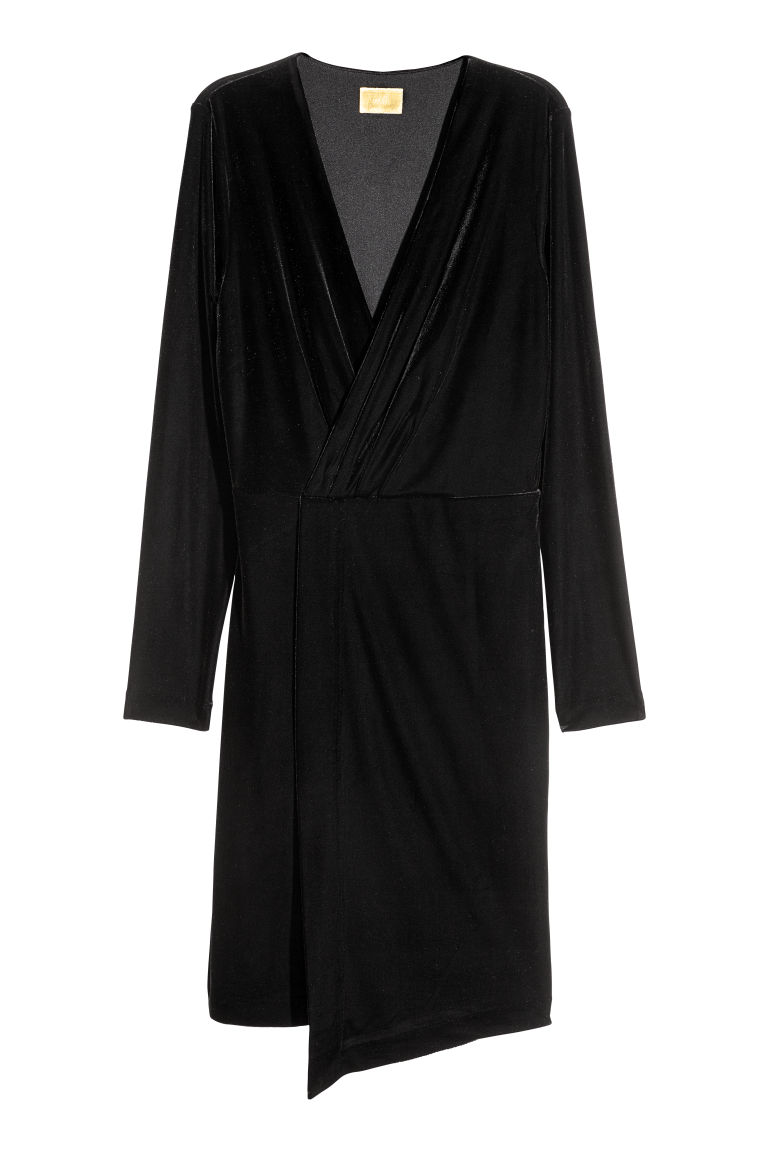 Velour dress - Black - Ladies | H&M CN