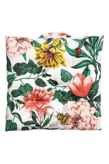 Cuscino per sedia fantasia - Bianco/fiori - HOME | H&M IT