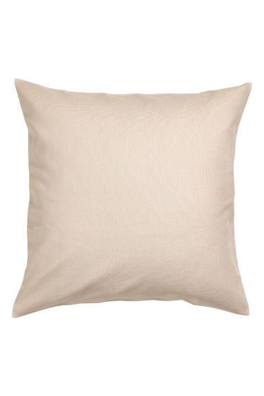 Cotton canvas cushion cover - Beige - Home All | H&M IE