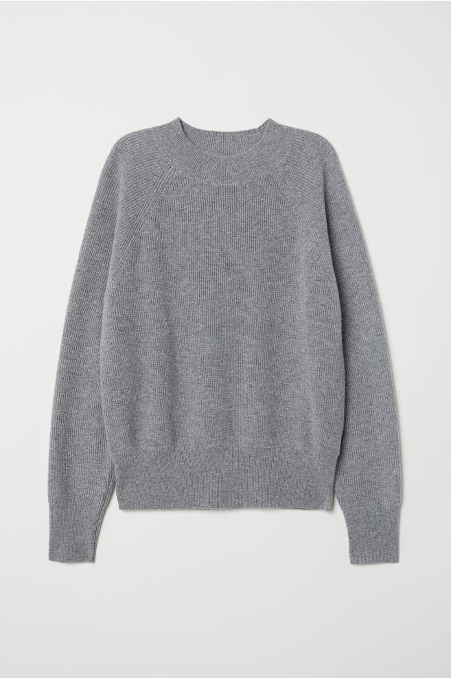 20664794a6f Cashmere Sweater - Gray melange - Ladies