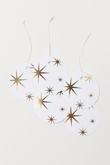 Gift tag - White/Stars - Home All | H&M IE