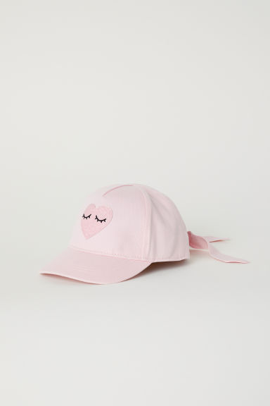 Cap with ties - Light pink/Heart - Kids | H&M