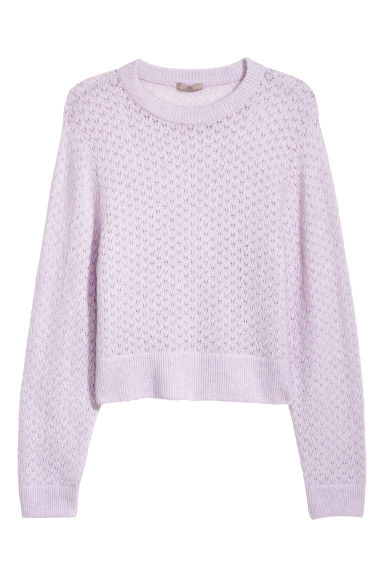 H&M+ Loose-knit jumper - Light purple - Ladies | H&M