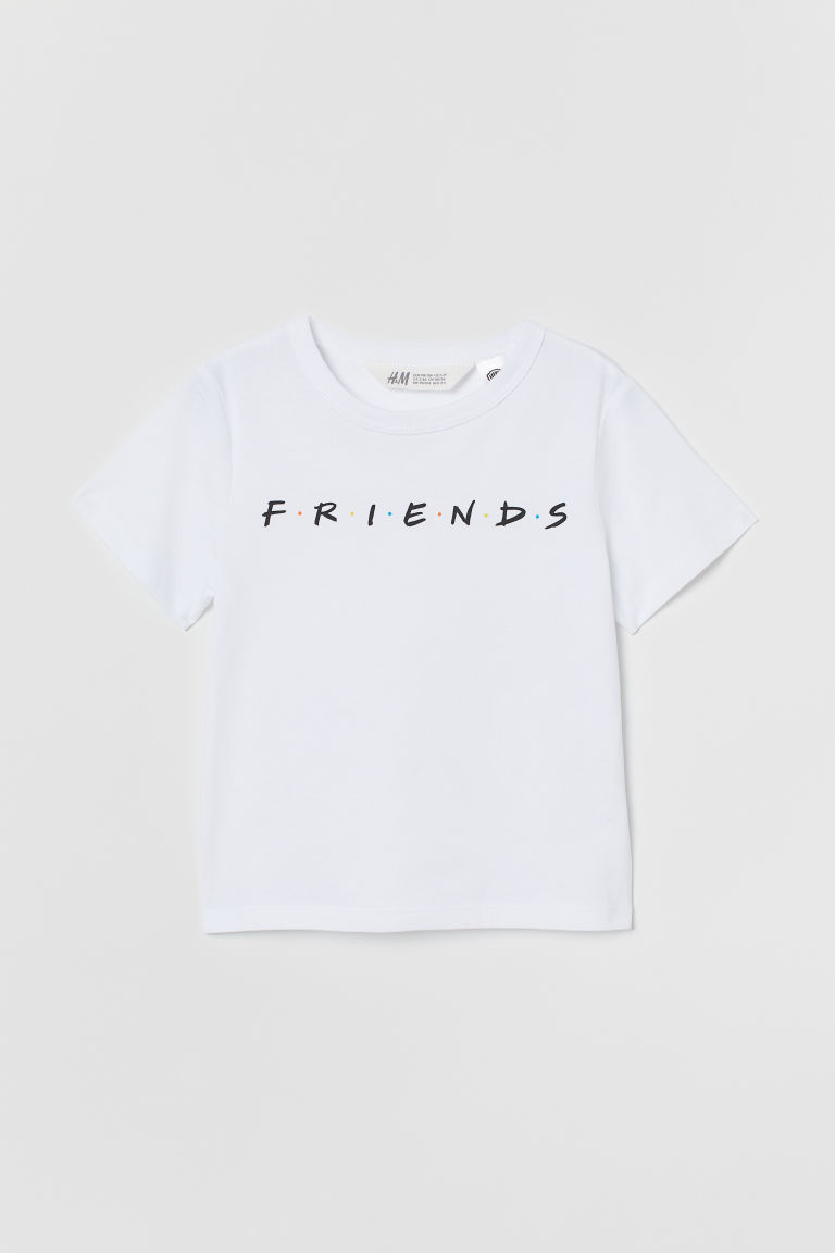 Printed T-shirt - White/Friends - Kids | H&M CN