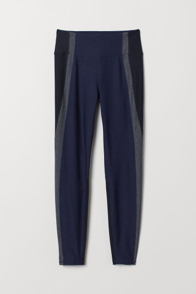 Sports tights - Dark blue/Grey - Ladies | H&M IE