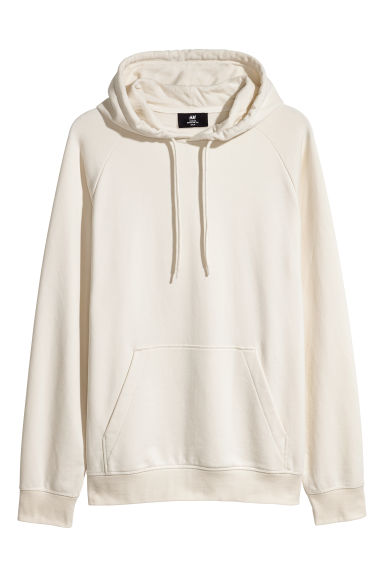 Hooded top with raglan sleeves - Natural white -  | H&M